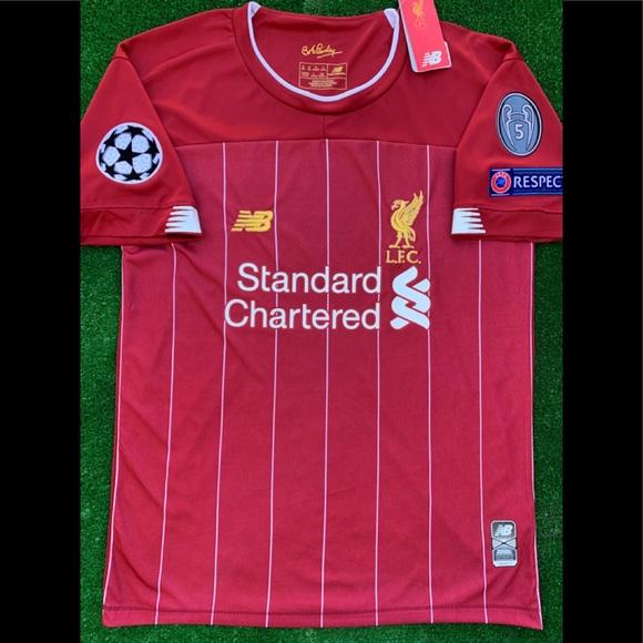 c69d170e4 2019 20 Liverpool FC soccer jersey Salah YNWA LFC